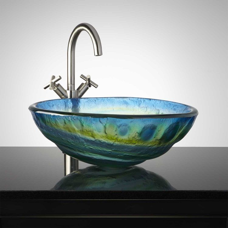 20 Beautiful Glass Vessel Sinks With Images Glass Sink Glass