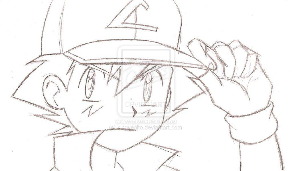 Pokemon Ash Sketch Ash Ketchum Pencil Sketch By | Emilyu0026#39;s Stuff | Pinterest | Ash Ketchum Ash ...