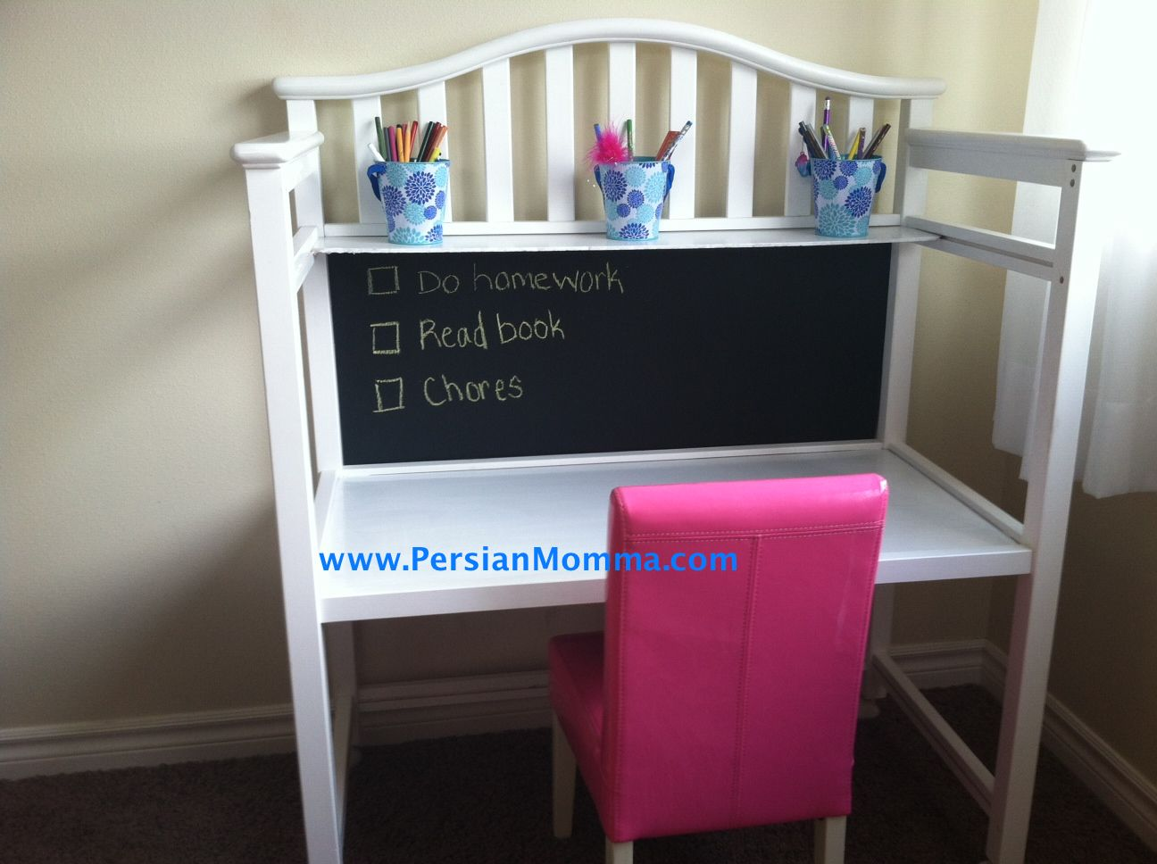 What Can You Do To An Old Changing Table.turn It Into A Child Sized Desk,  Of Course!