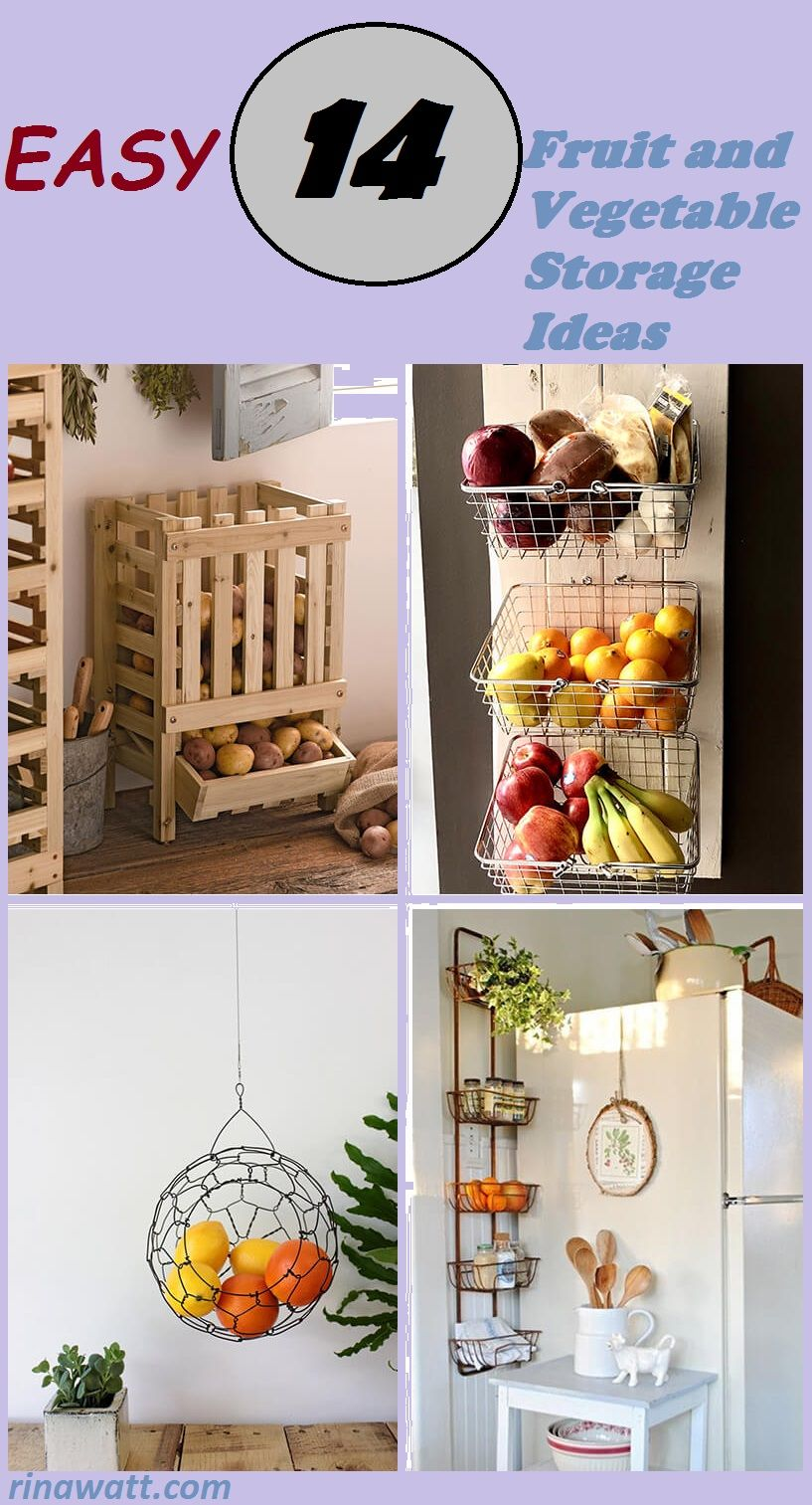 14 fruit and vegetable storage ideas to make your kitchen a whole lot more organized