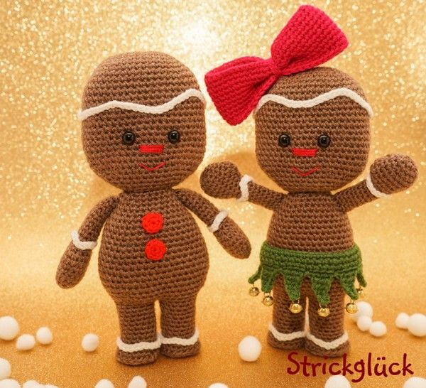 Pfefferkuchenmann Weihnachten ,häkeln | Knitting And Crochet ...