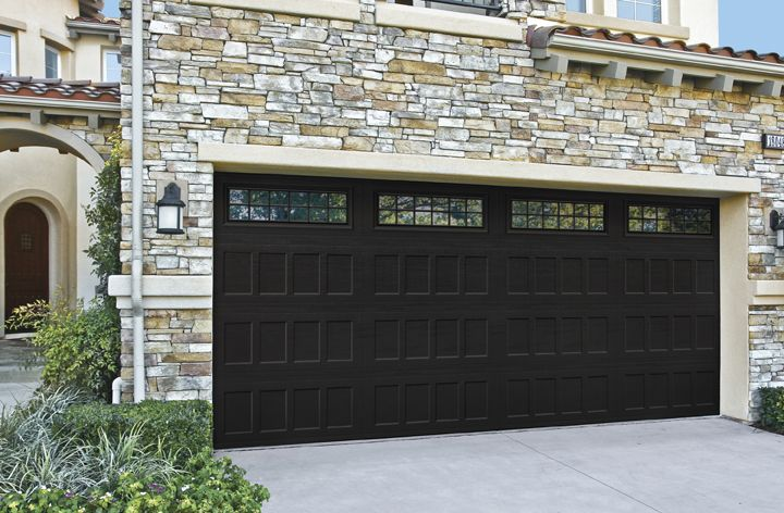 Amarr Olympus Black Garage Door With Best Inspiration And Amarr