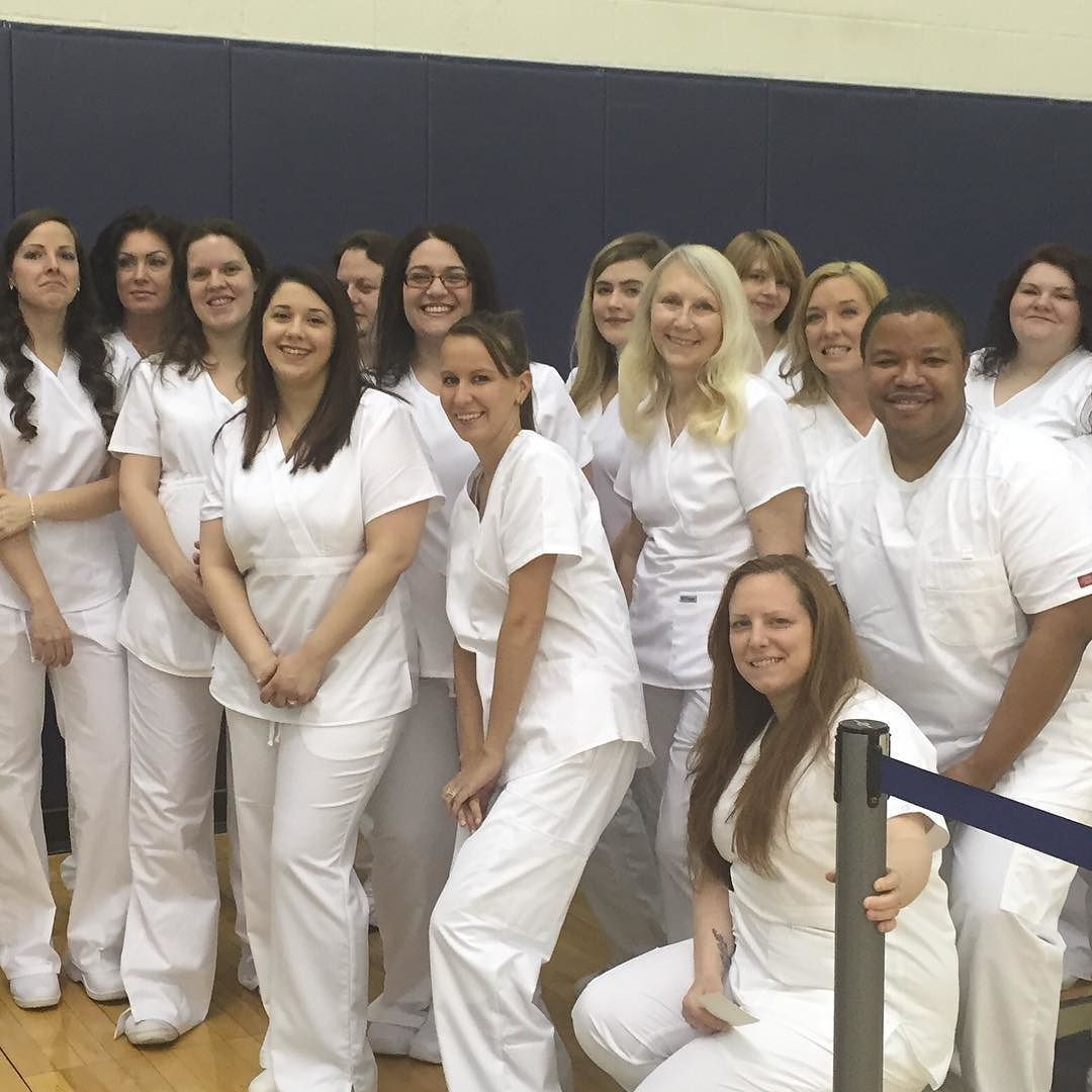 #CCACnursing graduates from #Allegheny Campus pose for a group photo at the #CCAC Nursing Pinning Ceremony! #CCAC50