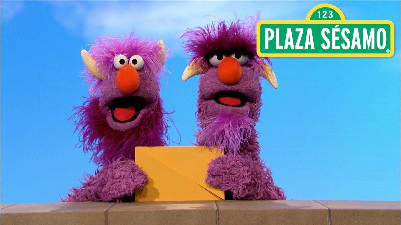 Plaza Sésamo El Monstruo De Dos Cabezas Y El Rectángulo Plaza Sesamo Plaza Sesamo Personajes Monstruos