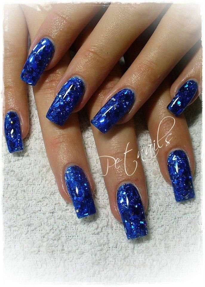 Nail Nails Nailart Blue Glitter Nails Fashion Nails Purple Nail Art
