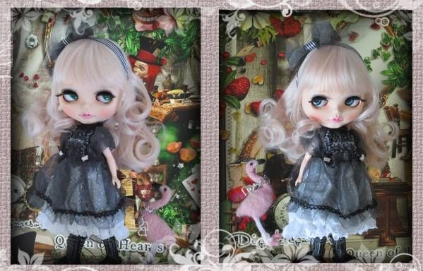・:*+285 Custom Blythe カスタムブライス Alice in B&W_画像2