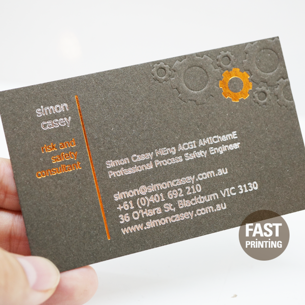 Unique charcoal brown stock foil and embossed finish unique charcoal brown stock foil and embossed finish fpbusinesscards fastprinting reheart Choice Image