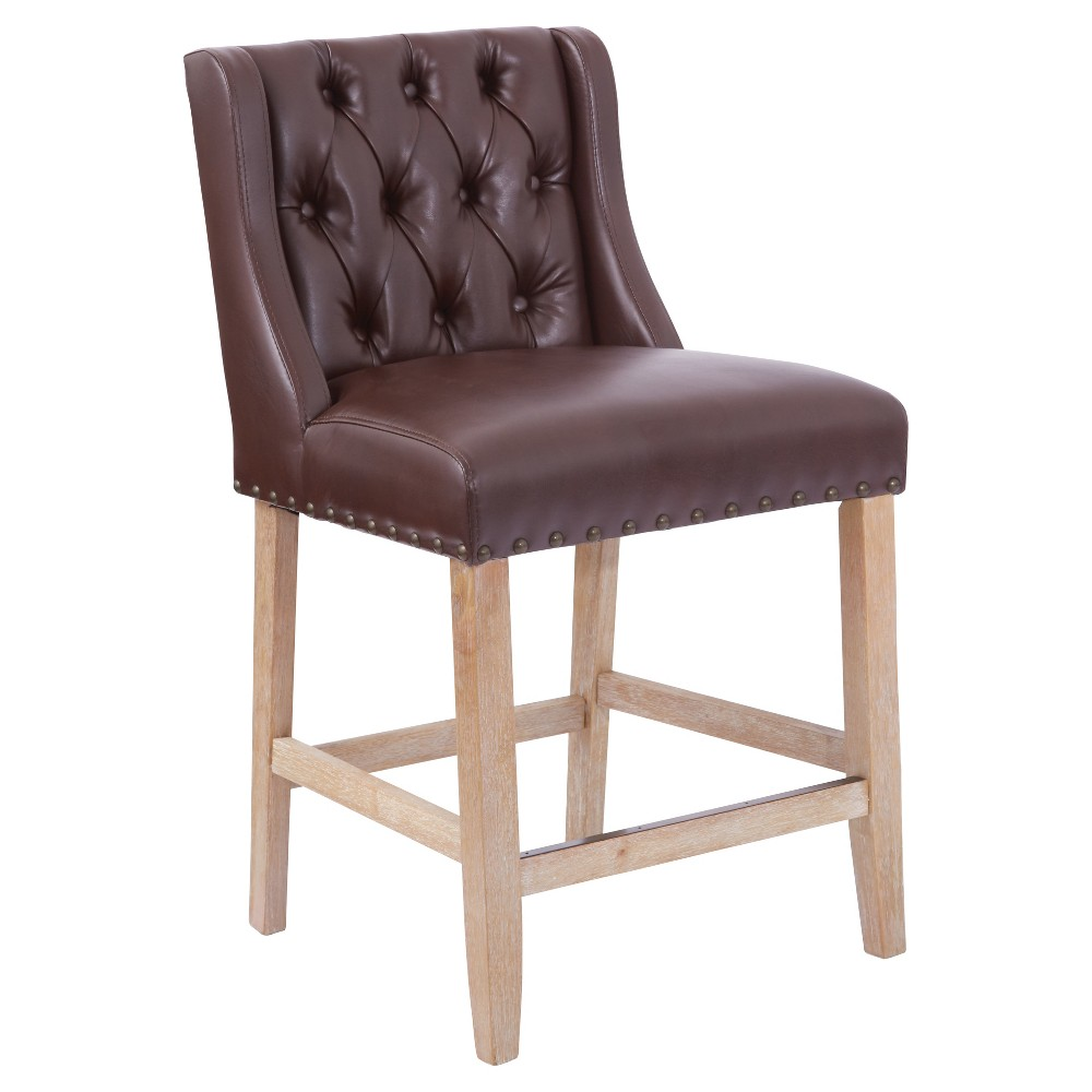Kate 24 Counter Stool - Cocoa (Brown) - Ave Six