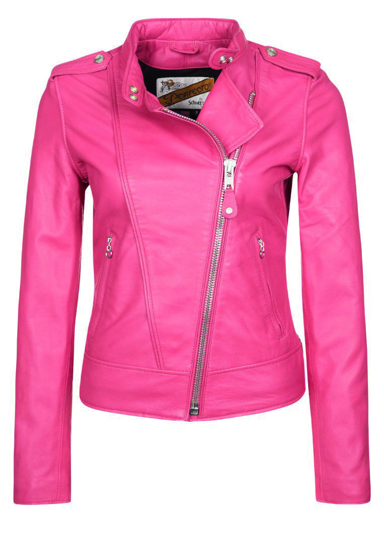 Pink Leather Jacket Uk - JacketIn