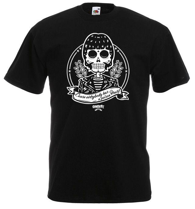 Dee dee ramone skull t shirt dee dee day of the dead by ganbatte team