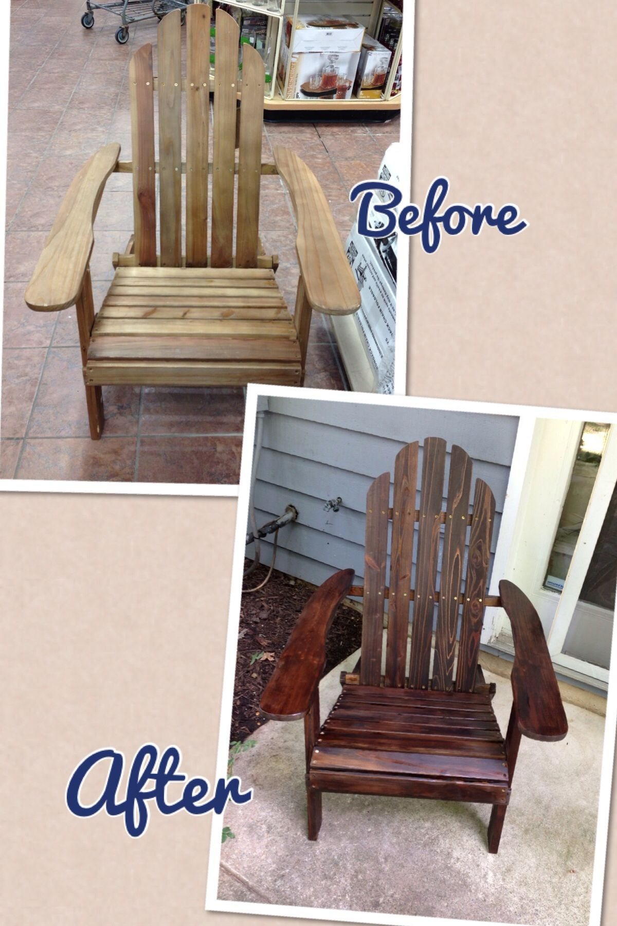 Adirondack Chairs Gab Stained Only $24 At Christmas Tree Shop!