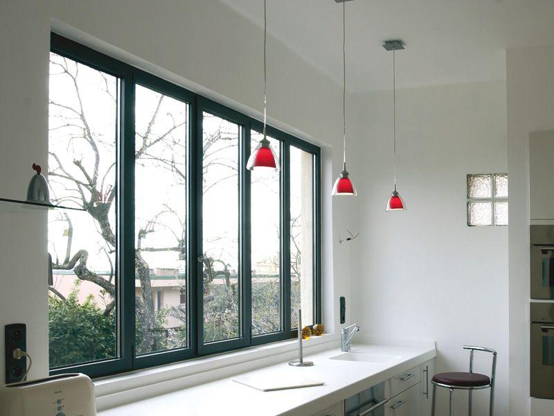 Fen tre aluminium sur mesure pour le neuf ou la r novation baies vitr es en 2019 verriere - Fenetre baie window ...