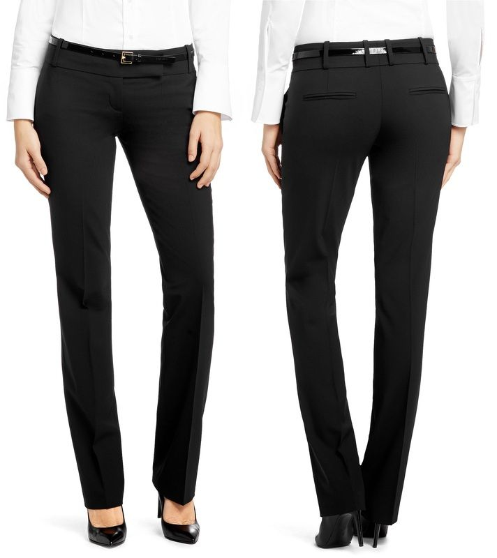 straight leg trousers - Black HUGO BOSS IecHqMc