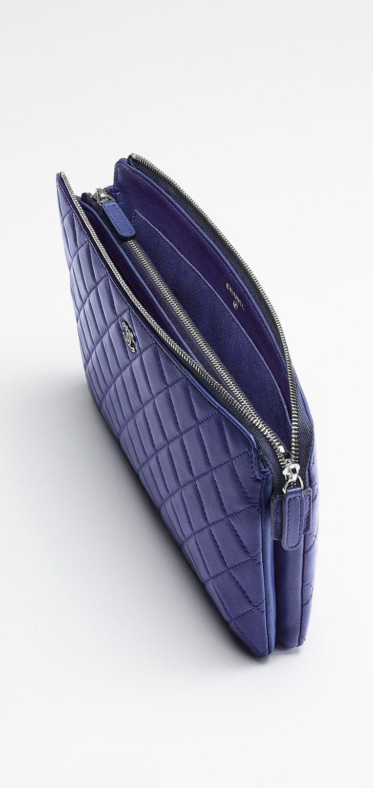 Large lambskin pouch embellished... - CHANEL. Pochette ChanelPochettesSacs  ... 319a695b2b1