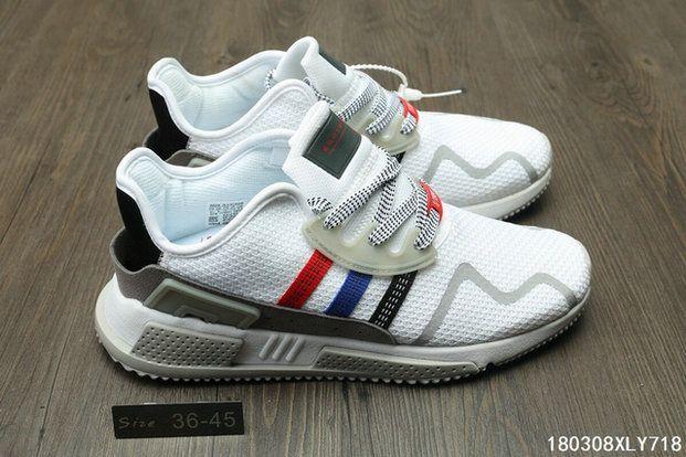 49d33796fbd0 Unisex Adidas Originals EQT Cushion ADV Red Blue White sneaker ties Shoe
