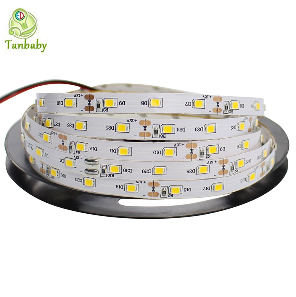 Tanbaby Levou Tira Smd 3528 Dc12v 60 Led M Flexivel 2835 Corda Nao Impermeavel Interior Decortion Luz Da Co Led Tape Lighting Flexible Led Light Strip Lighting