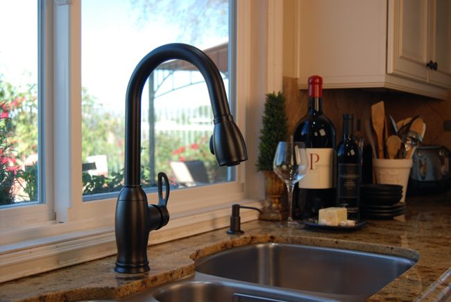Bronze Kitchen Faucet oil rubbed bronze with stainless | for the home | pinterest | oil