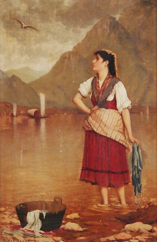 Walter Blackman (American 1847-1928) Oil on Canvas