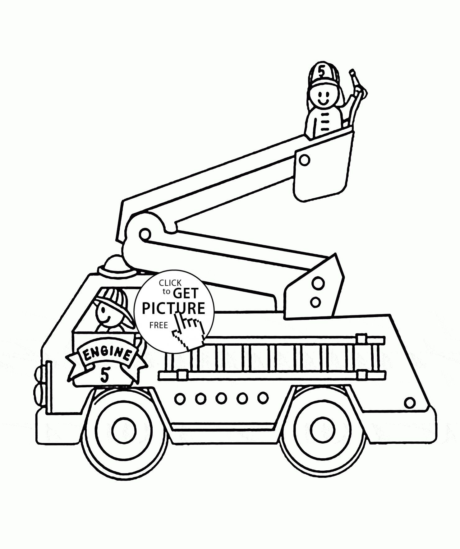 Coloring Pages Of Cars And Trucks Genial Fire Truck