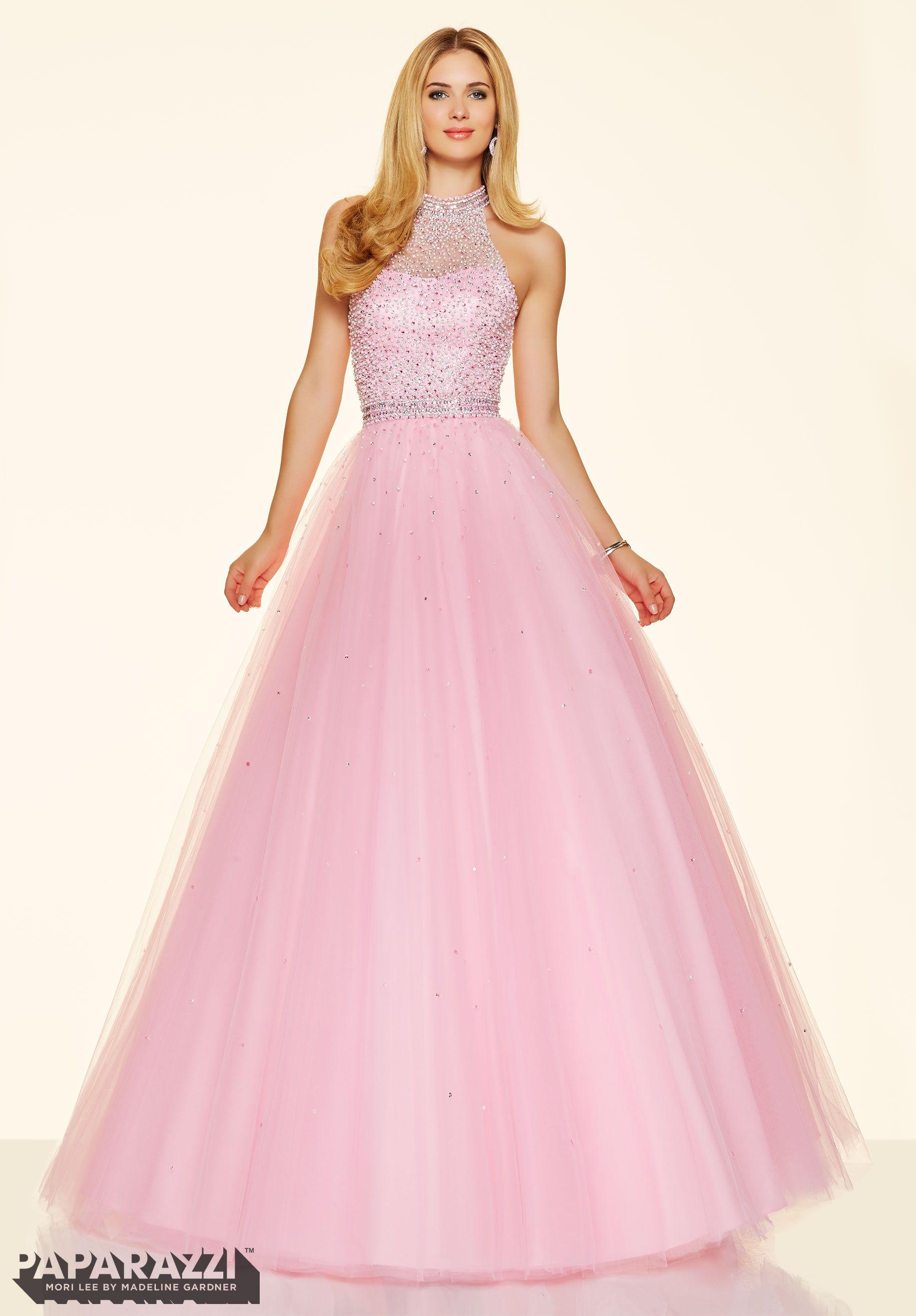 Prom Dress 98096 Beaded Tulle Ball Gown Light Pink | Prom | Pinterest