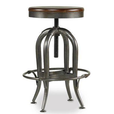 Hooker Furniture Wendover Adjustable Height Swivel Bar Stool