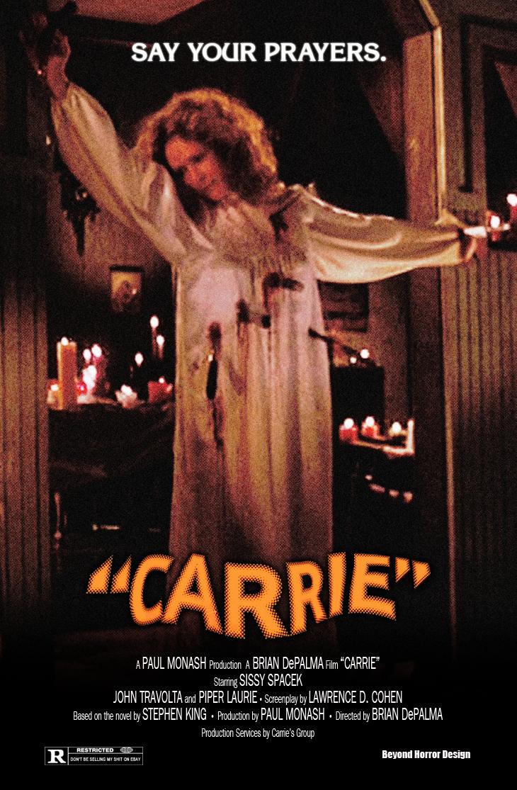 """O Pôsteres de """"Carrie, a Estranha"""" ~ DVD, sofá e pipoca"""