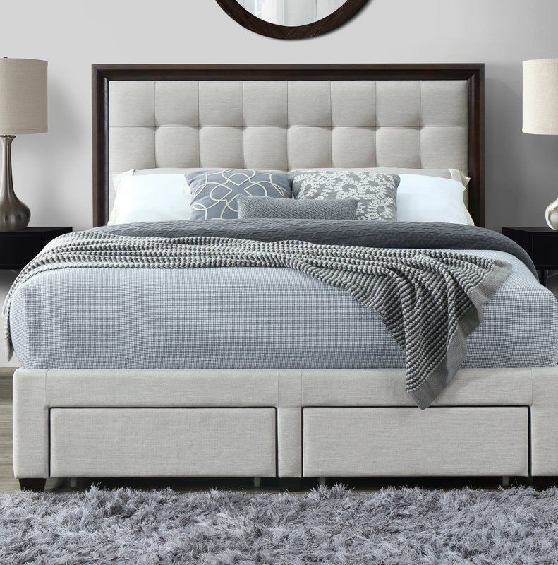 Abril Queen Tufted Upholstered Storage Standard Bed