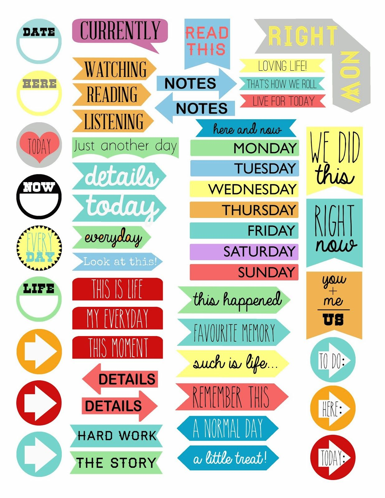 Scraps of Five.: Project Life: Printable Tabs ~~ FREE! {I printed ...