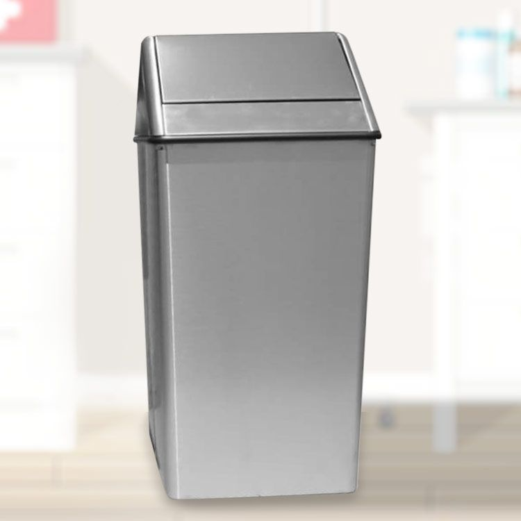 Stainless Steel Trash Can Swing Top 21 Gallon Trash Can Trash