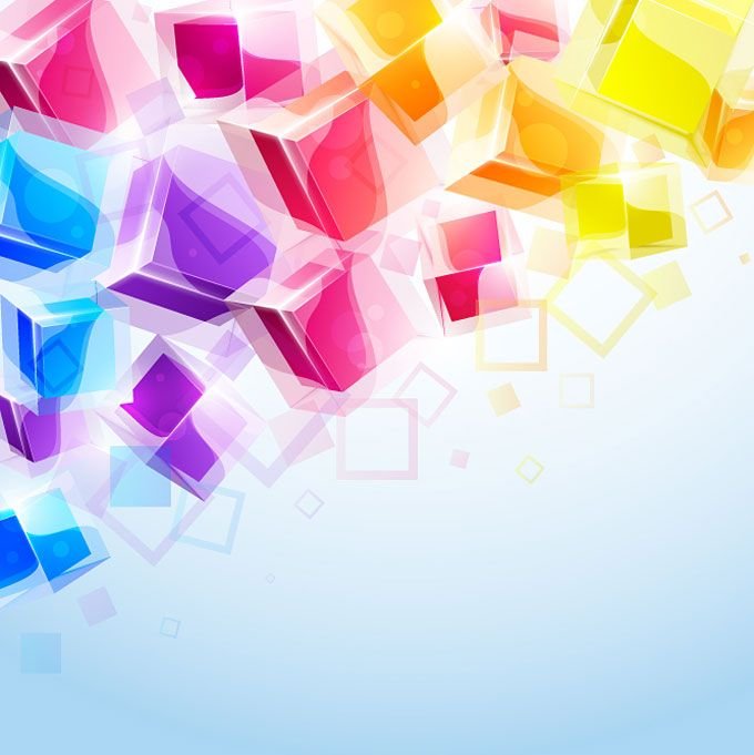 Abstract Colorful 3d Cubes Vector Background Vectino Abstract Background Images Wallpapers Abstract Backgrounds