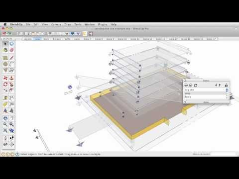 Construction Sequence Animation In Sketchup Tutorial Software Design Architecture Presentation Sketch Up Architecture