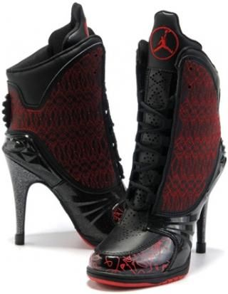 quality design 6036b 433e7 asneakers4u.com Nike Air Jordan 23 High Heels Red Black2