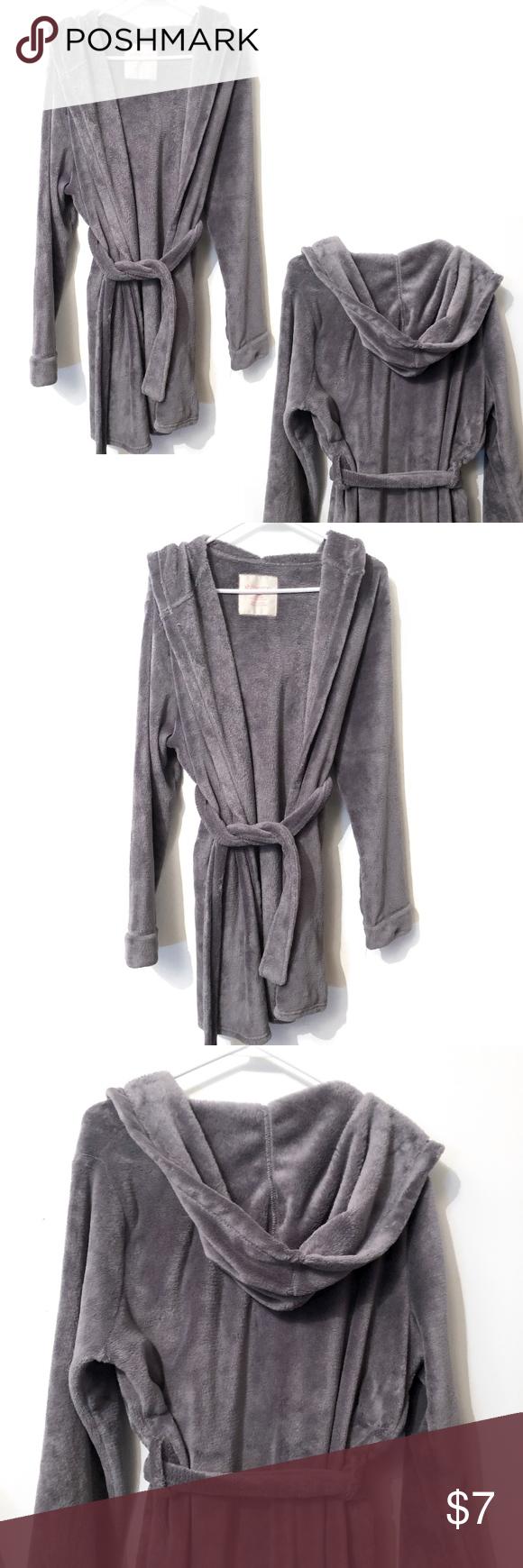38cff91d60 ... lowest price d06f2 c926a XHILARATION - Womens Sleepwear Short Hooded  Robe ...