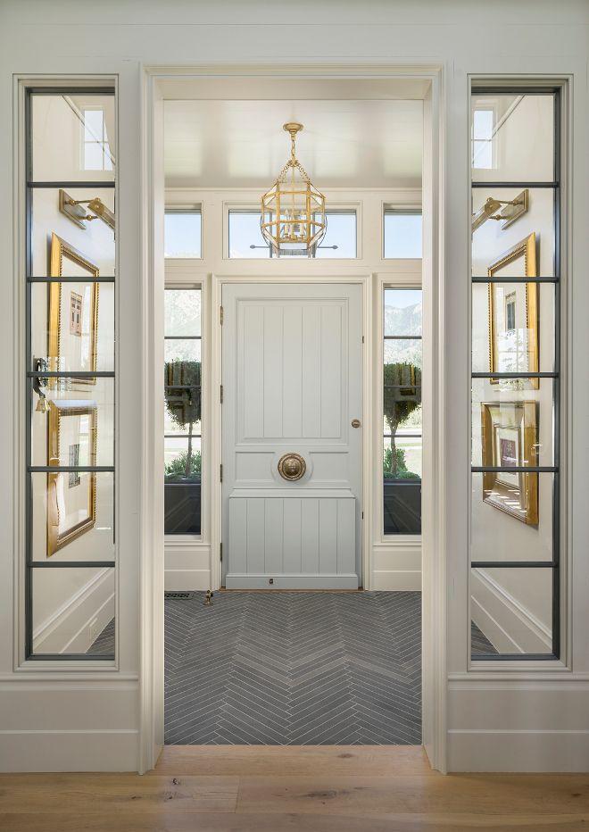 i love this foyer flooring foyer with slate floor tile set in herringbone pattern foyer opens to living room with wide plank white oak floors - Slate Floors In Living Room