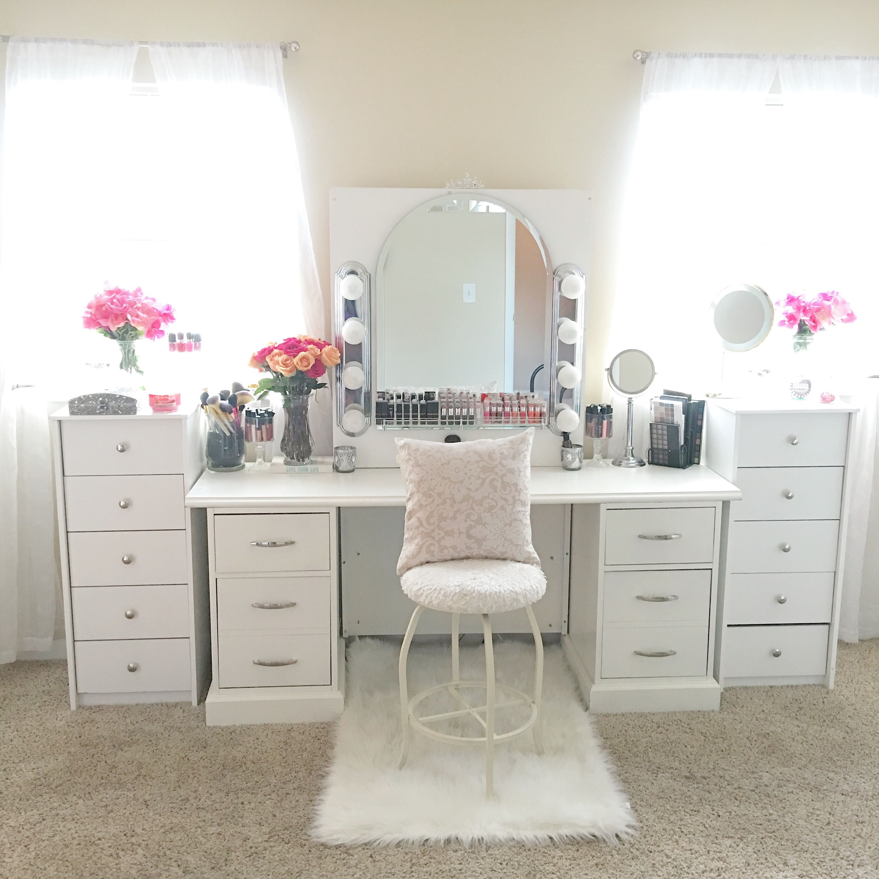 vanity lights makeup for white table long big with bedroom eas ikea organization color vanities small large lots mirror dressing and lighted drawer
