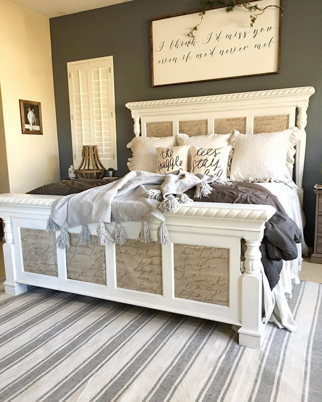 50 Cozy Farmhouse Master Bedroom Remodel Ideas: Color For CCCCCC : Fabulous Grey Finished Kitchen