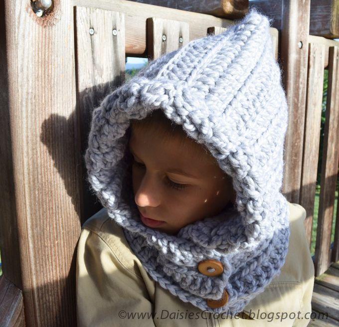 Crochet Hood Pattern Crochet Cowl Boy Scarf Crafty Goodness