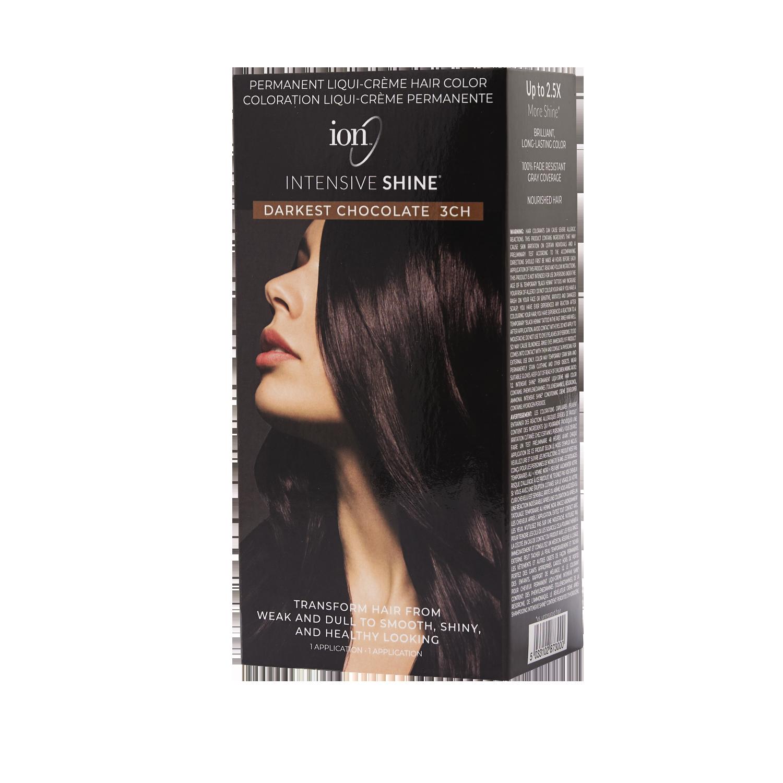 Ion Intensive Shine Hair Color Kit Darkest Chocolate 3ch Hair Color Kit Hair Color Boxed Hair Color Ion Hair Colors