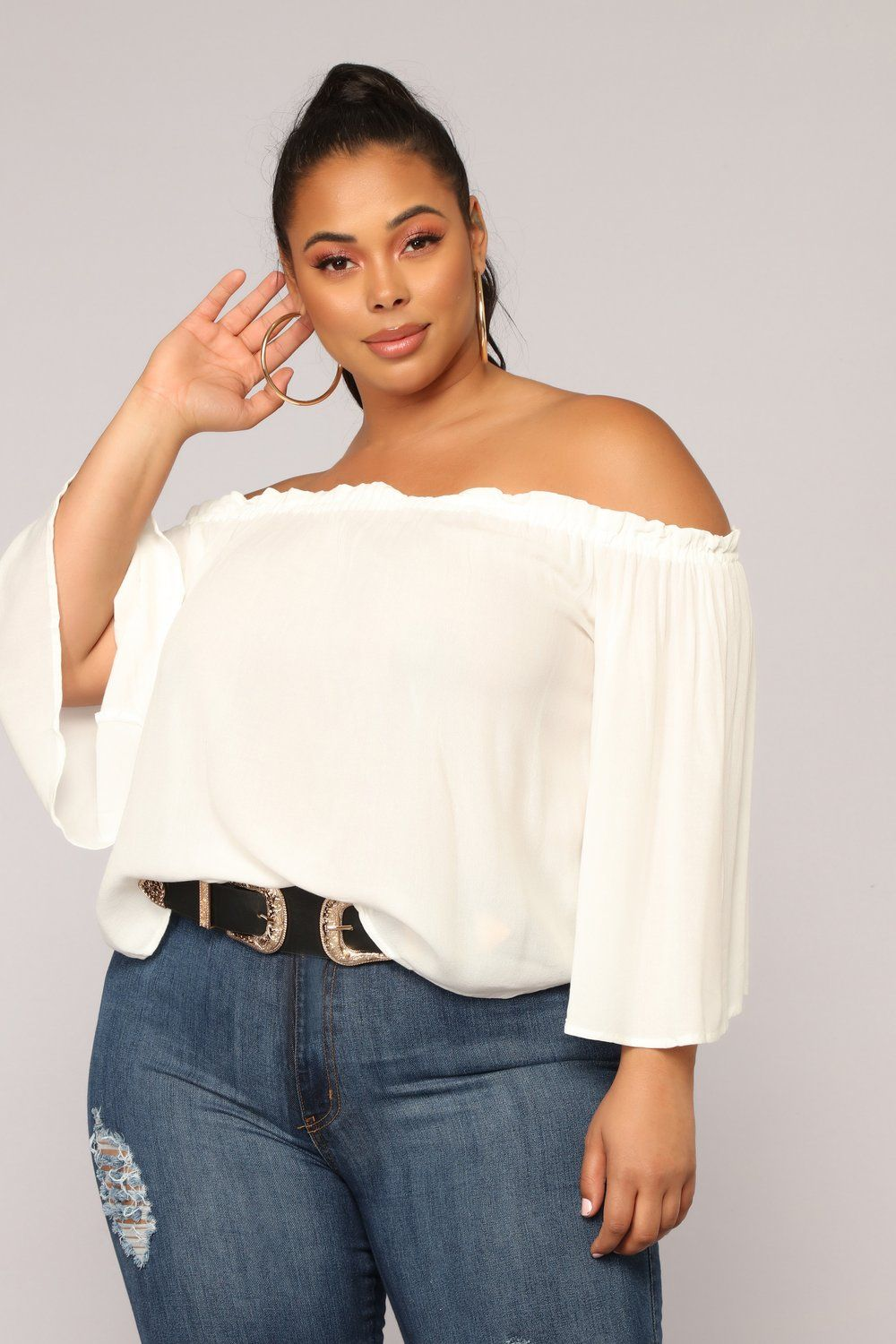 a0d51d6bb7fedf Keep It Moving Off Shoulder Top - OffWhite