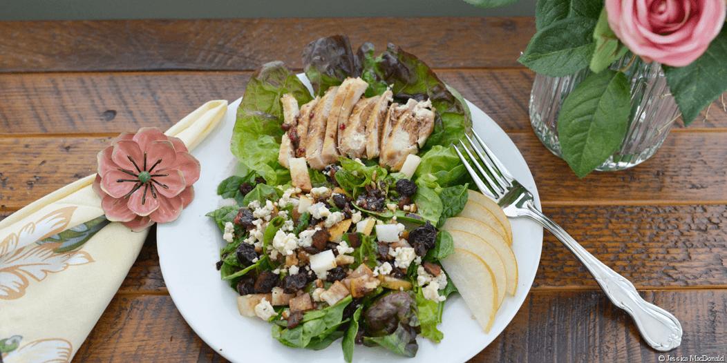 #glutenfree Cranberry Salad with Chicken