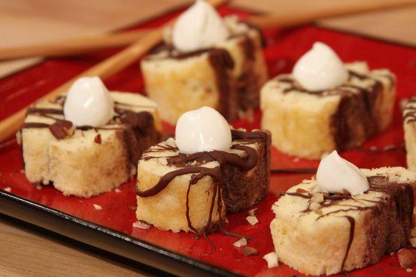 traditional french christmas dessert buche de noel bites - Easy Christmas Desserts Pinterest