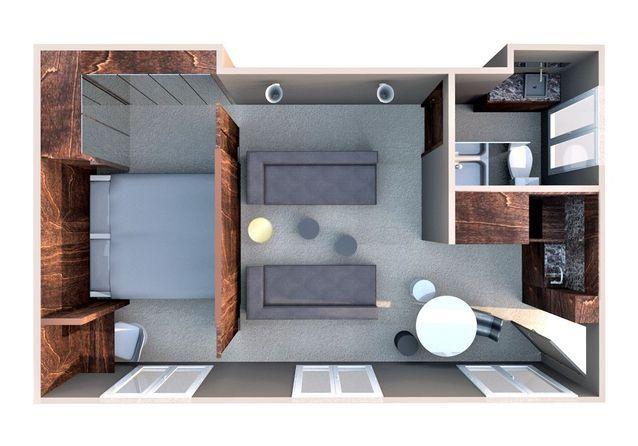 Inspirant  un appartement de 33m² comme une suite d\u0027hôtel - Elle - faire sa maison en 3d