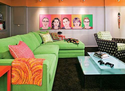 décor de maison en pop art | pop art, retro and retro interior design
