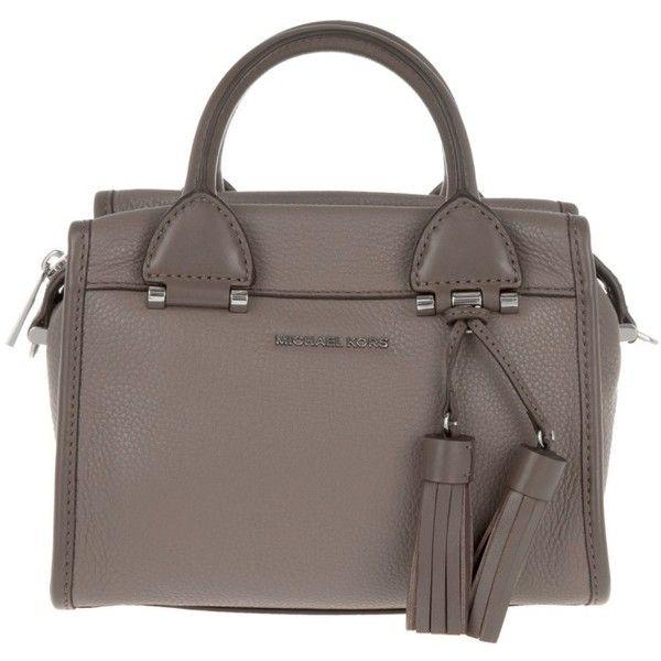 fbcb9e0886 ... Michael Kors Handle Bag - Geneva SM Satchel Bag Leather Cinder - in. ...