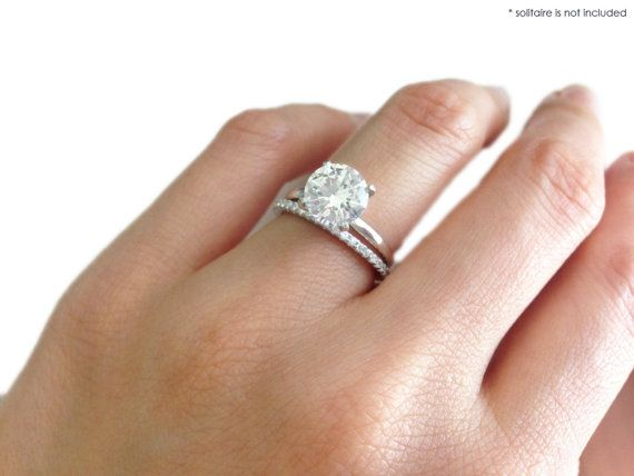 More sizes small brilliant round cut eternity wedding for Engagement wedding and eternity ring