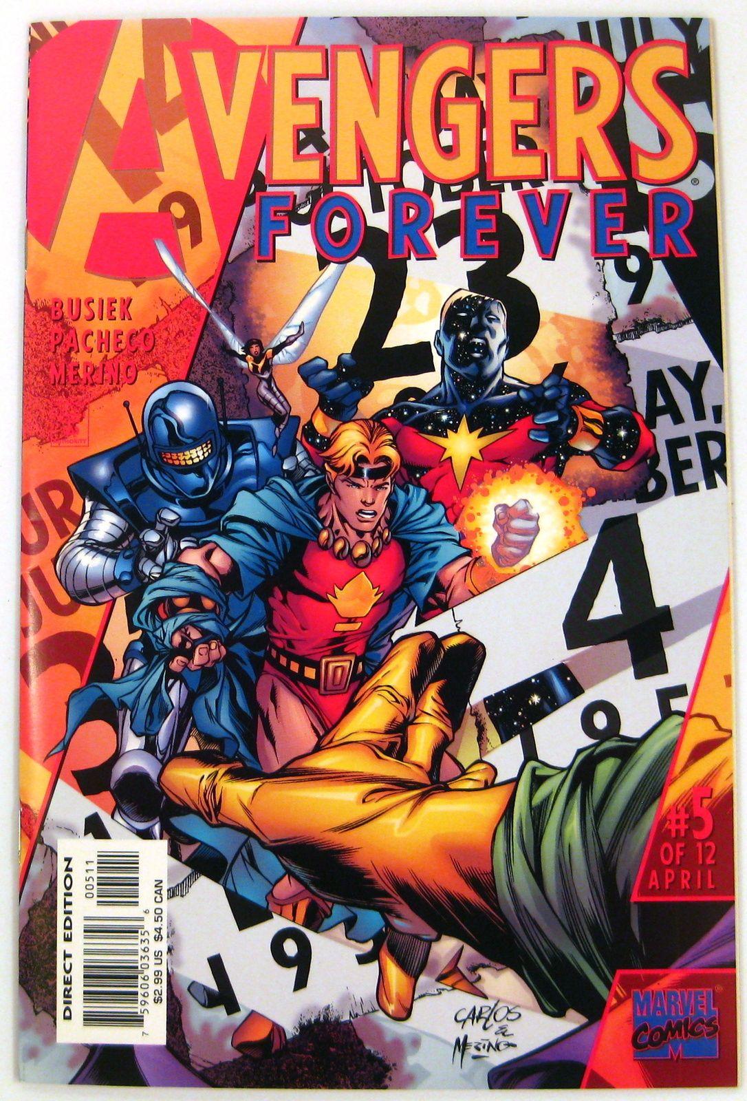 Avengers Forever #5 Captain America Hawkeye Giant-Man Marvel Comics (1999)