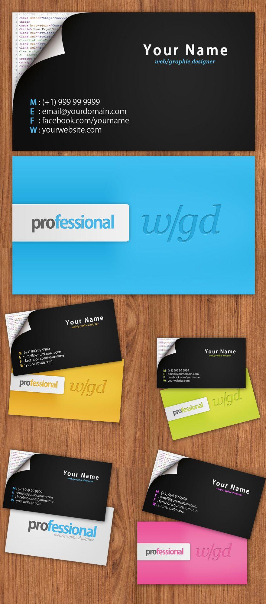 Web Graphic Designer Business Card Business Cards Creattica