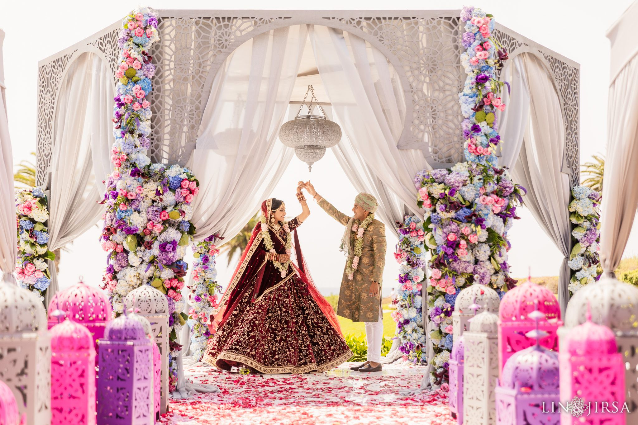 Terranea Resort Indian Wedding Ceremony Radhika & Lalit