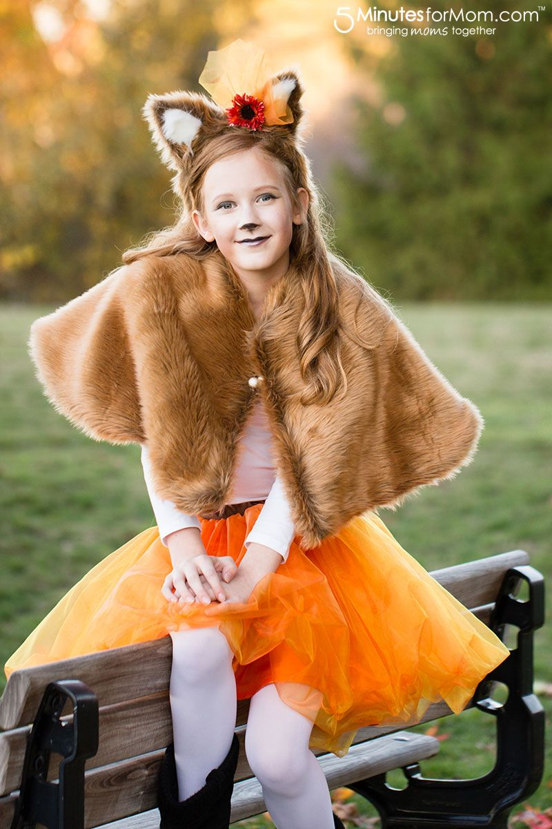 Girls Fox Costume - Fancy Fox Costume - This DIY fox costume will make your girl feel so pretty for all her costume parties. It is perfect for girls of any ...  sc 1 st  Pinterest & DIY Girls Halloween Costumes | Pinterest | Fox costume Halloween ...