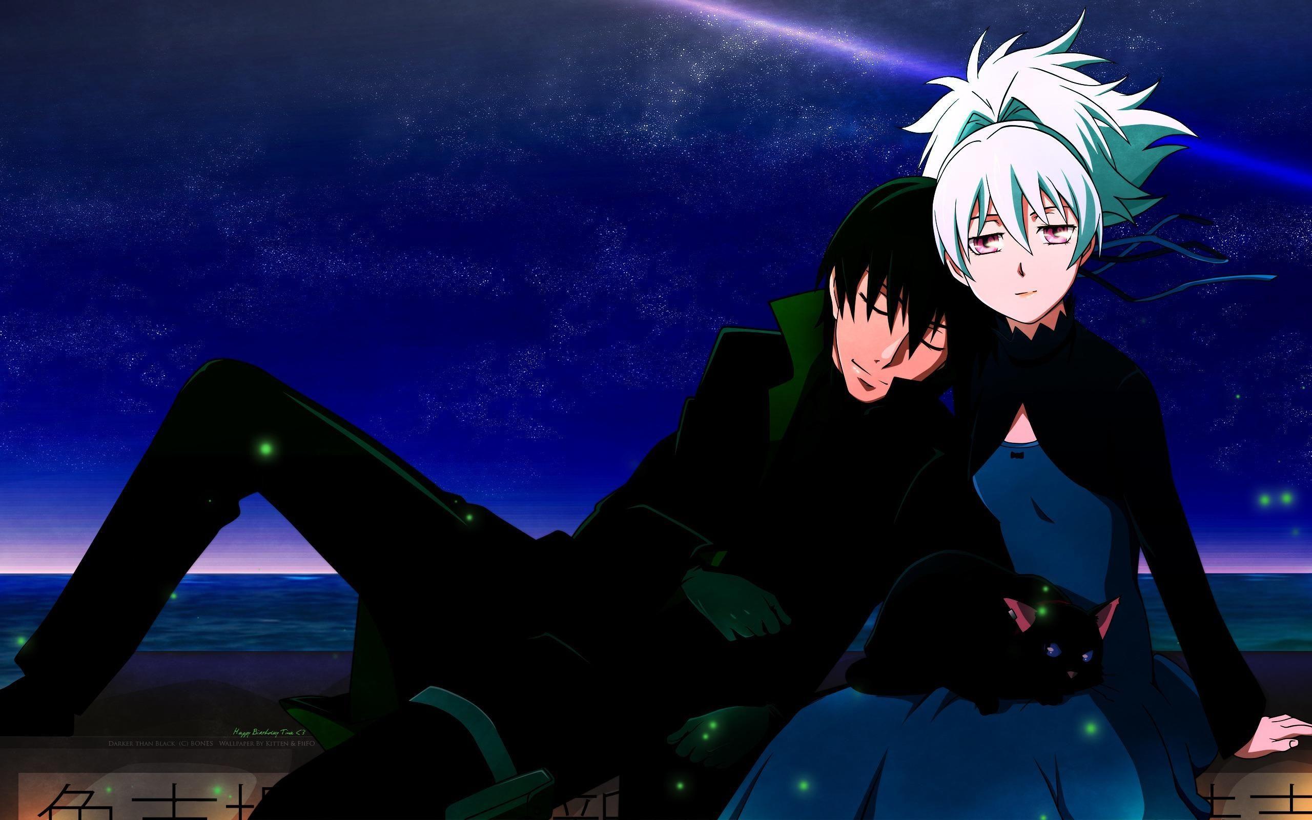 Anime Darker Than Black ダーカー, 黒, 黒の契約者